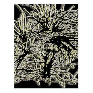 Glowing Wildgrass Mini Poster-Card Postcard