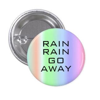 Go Away Rain 3 Cm Round Badge