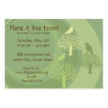 """""""Go Green"""" Event Promotion Cards Pack Of Chubby Business Cards"""