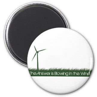 Go Green, Go Clean, Go Renewable 6 Cm Round Magnet