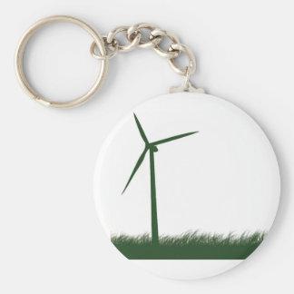 Go Green, Go Clean, Go Renewable Basic Round Button Key Ring
