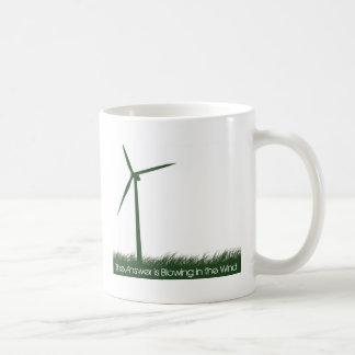Go Green, Go Clean, Go Renewable Basic White Mug