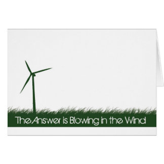Go Green, Go Clean, Go Renewable Greeting Card