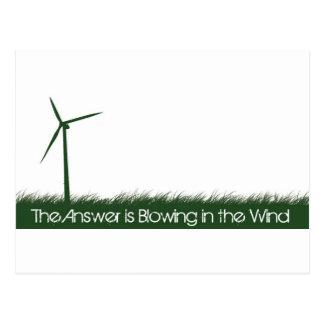 Go Green, Go Clean, Go Renewable Postcard