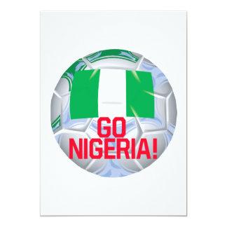Go Nigeria 13 Cm X 18 Cm Invitation Card