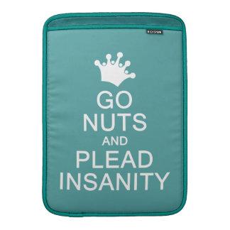 GO NUTS custom color MacBook sleeve