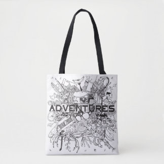 Go On for Adventures! That's time! Grocery Bag Tote Bag