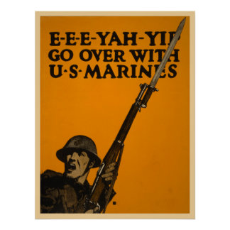Go Over With U.S. Marines Poster