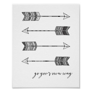 Go Your Own Way Arrow Print