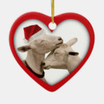 Goat Farmer Lovers Wedding or Anniversary Heart Ceramic Heart Decoration
