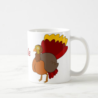 gobble gobble basic white mug