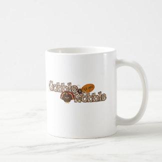 Gobble til you wobble basic white mug