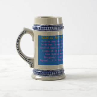 Gobbles America_Oceans White With Foam Beer Steins