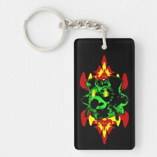 Goblin Fire Rectangle Acrylic Keychain