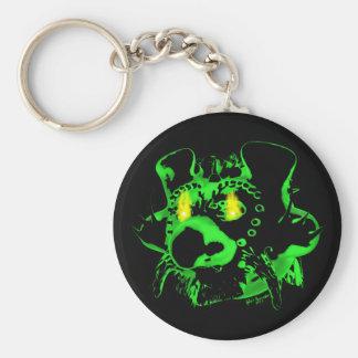 Goblin Fire Round Keychain