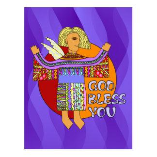 God Bless You | violet waves Postcard