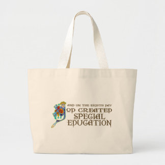 God Created Special Education Jumbo Tote Bag