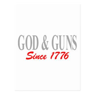 GOD & GUNS POSTCARD