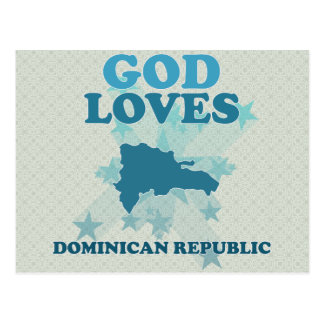 God Loves Dominican Republic Postcard