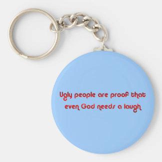 God Needs a Laugh Rude Keychain