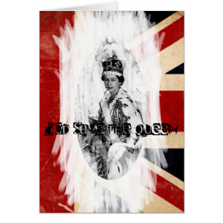 God Save the Queen punk/grunge Greeting Card