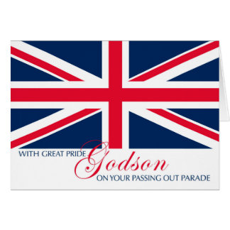 Godson Passing Out Congratulations Union Jack Greeting Card
