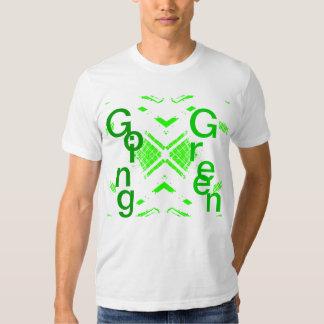Going Green Men's White Tshirt 3 - CricketDiane