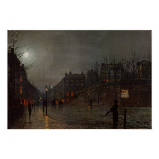 Going Home at Dusk, 1882 Poster