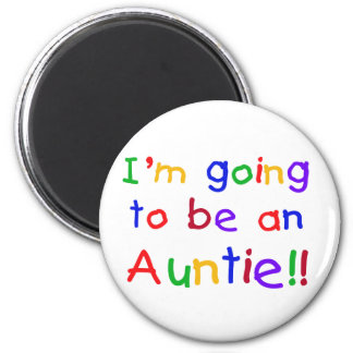 Going to be an Auntie Primary Colors 6 Cm Round Magnet