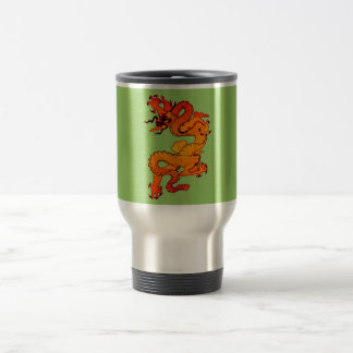 Gold and Orange Dragon for Chinese New Year Stainless Steel Travel Mug