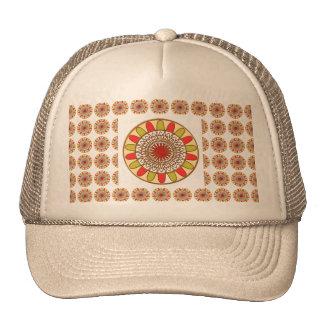 Gold Border SUNFLOWER Chakra Mandala Cap