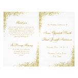 Gold confetti & Glitter folded program 21.5 Cm X 28 Cm Flyer