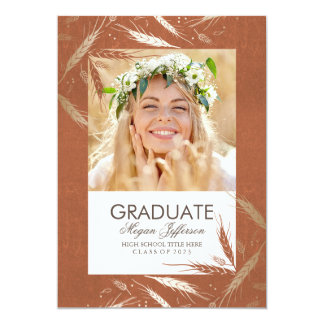 Gold Fall Photo Graduation Announcement Party