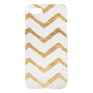 Gold Foil Chevron iPhone 7 Case