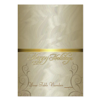 Gold Foil Gold Ribbon Holiday Table Placecard Pack Of Chubby Business Cards