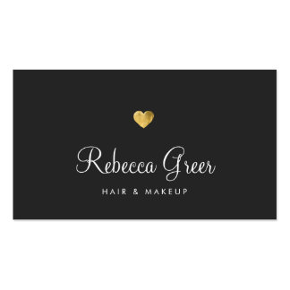 Gold Heart Beauty Salon Appointment Reminder Pack Of Standard Business Cards
