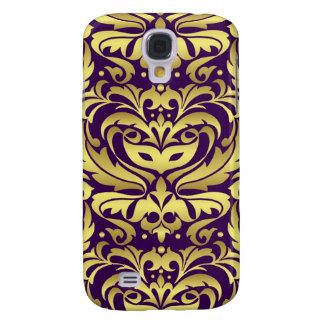 Gold Metal Damask 3g  Galaxy S4 Case