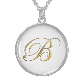 Gold Monogram B Necklace