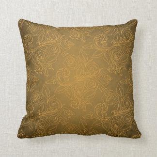 Gold Rose Pillow Throw Cushions