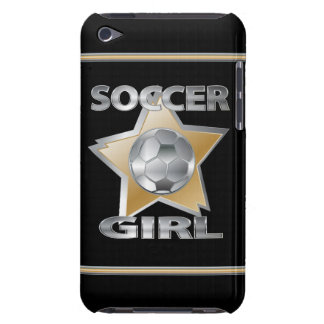 Gold Silver effect soccer girl star design iPod Touch Covers