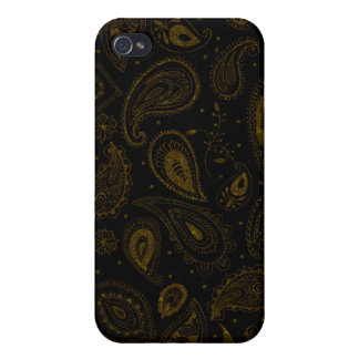 Gold Thread Paisley iPhone 4/4S Case