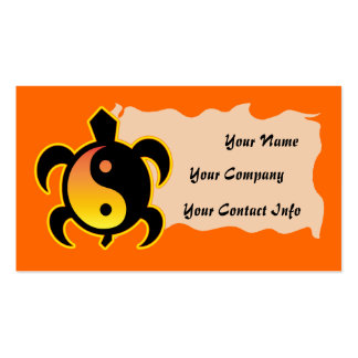 Gold Yin Yang Turtle Business Card Template