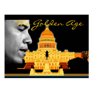Golden AgeObama Postcard