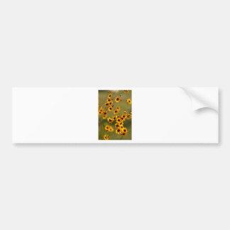 Golden Alabama Coreopsis tinctoria Wildflowers Bumper Sticker