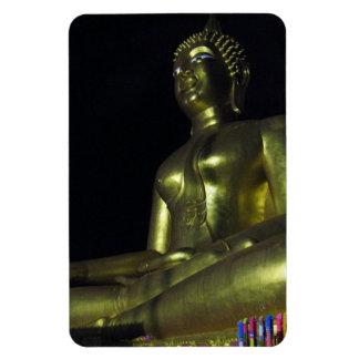 Golden Buddha at Night Rectangular Photo Magnet