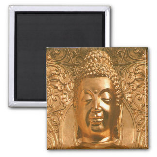 Golden Buddha - Awesome Square Magnet