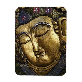 Golden Buddha Blessing Meditation Photo Magnet