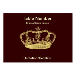 Golden Crown Reception Table Placecard Pack Of Chubby Business Cards