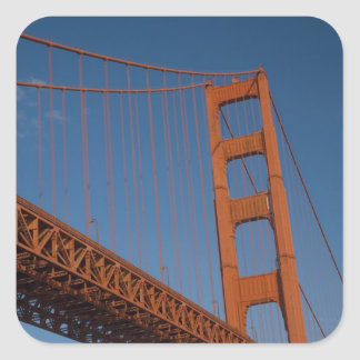 Golden Gate Bridge as viewed from Fort Point Square Sticker