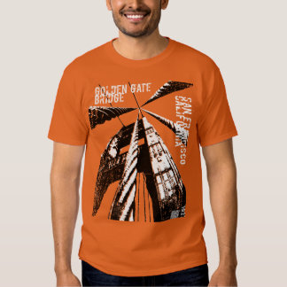 Golden Gate Bridge POV Design Tee Shirts